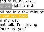 Responde llamadas perdidas momento BlackBerry