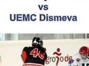 Hockey Hielo: Cartel partido Liga Femenina entre Majadahonda UEMC Dismeva Valladolid