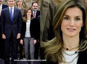 Letizia recibe Zarzuela Mario Vargas Llosa. look Princesa
