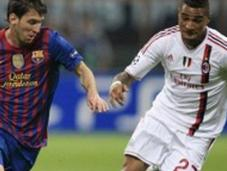 Barcelona empató ante Milan jugó