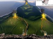 Formación isla volcánica teide