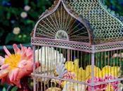 Elementos decorativos: jaulas flores