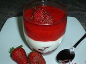Copa yogur griego fresas