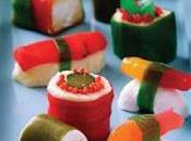 Brochetas chuches: Sushi gominolas