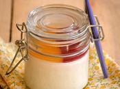 Panna cotta yoghurt salsa fresa melocotón