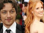 James McAvoy Jessica Chastain cuentan romance films
