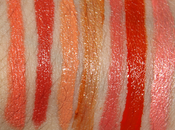 Swatch-O-rama!: Todos labiales corales/naranjas/duraznos