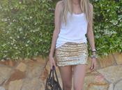 Golden skirt tank