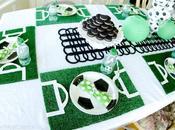 Decoración mesa cumpleaños: Fútbol