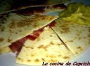 Quesadillas iberico queso guacamole