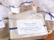 Bálsamos Lima jabones naturales. Detalles boda blanco azul.