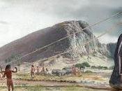 Moais Isla Pascua caminaban... ayudados sogas