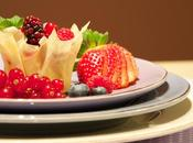 Berries phyllo basket (Canasta pasta filo frutos rojos)
