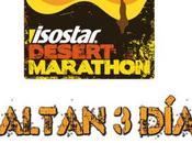 Faltan días...!! Isostar Desert Marathon, carrera sostenible solidaria