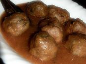 Albóndigas carne salsa