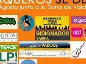 Manifestación plataforma Salvemos Valdevaqueros contra urbanización playa