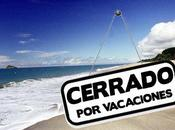 Cerramos vacaciones
