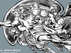 Neil Armstrong, homenaje gráfico