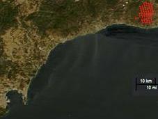 Imagen satélite incendio Málaga