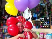 Guirnaldas globos, globos cadena