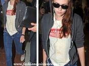 Kristen Stewart, aeropuerto front-row Balenciaga París