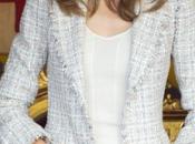 Dña. Letizia, chaqueta tweed jersey punto, Banderita