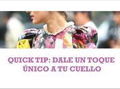 Quick Tip: Dale toque único cuello