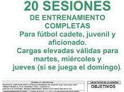 sesiones entrenamiento para fútbol juvenil aficionado