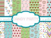 Papeles para imprimir candy party. party paper printables