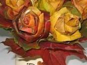 Rosas hechas hojas secas