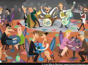 Jazz band illustration Ilustración banda jazz