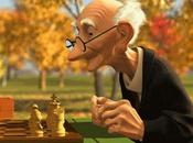 Solitaria partida ajedrez