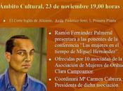 """Conferencia """"Las mujeres tiempo Miguel Hernández"""", Alicante"""