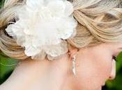 Peinados para novias flores