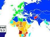 esperanza vida diversos países, mapa interactivo