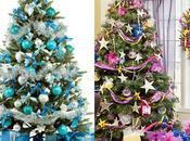 Eligiendo colores para árbol Navidad