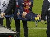 Messi sólo tiene golpe rodilla