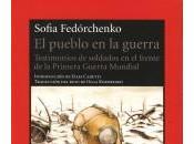 Libro pueblo guerra Sofia Fedórchenko sololibros.es
