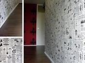 Empapelar pared papel periódico