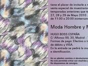 EVENTOS: Venta especial muestrario Hugo Boss