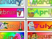 meses inglés para niños