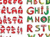 alfabetos vectoriales para navidad