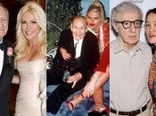 famosos ancianos jóvenes esposas