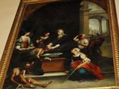 Santa Isabel Hungría curando tiñosos.