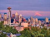 Seattle, ciudad verde, brillante neutra carbono