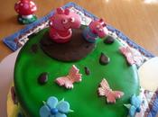 Tarta peppa (layer cake chocolate buttercream queso chocolate)