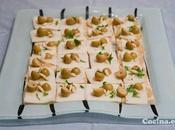 Canapés rápidos queso aceitunas