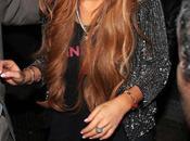 Nueva moda Lindsay Lohan unos peculiares moretones piernas