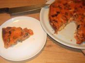 Quiche berenjena, mozzarella jamón serrano