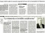 AMES concede MENCIÓN HONOR DIARIO JAÉN labor difusión.